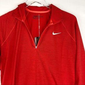 Nike Jackets & Coats - Nike Sweater Jacket zip pullover wool Golf red XL